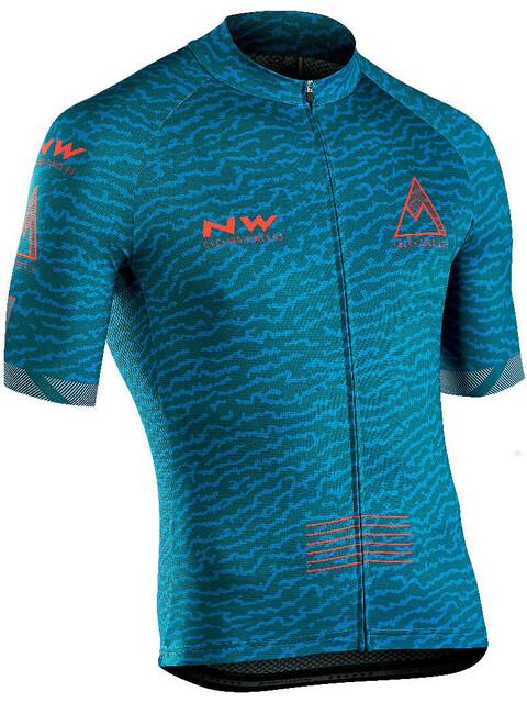 Northwave Rough Fietsshirt korte mouwen Heren turquoise